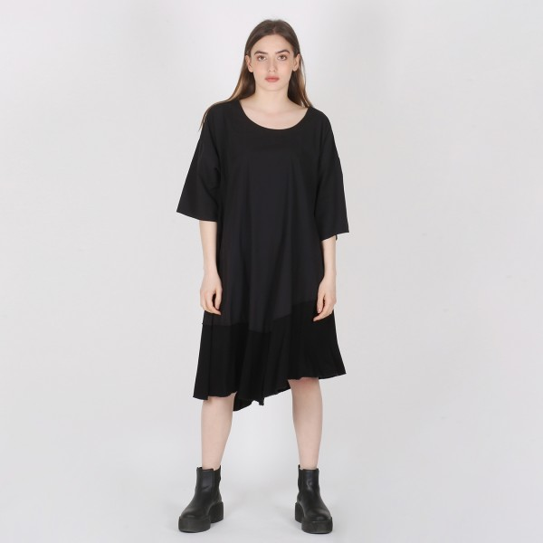 Long-Shirt Baumwolle Jersey Schwarz