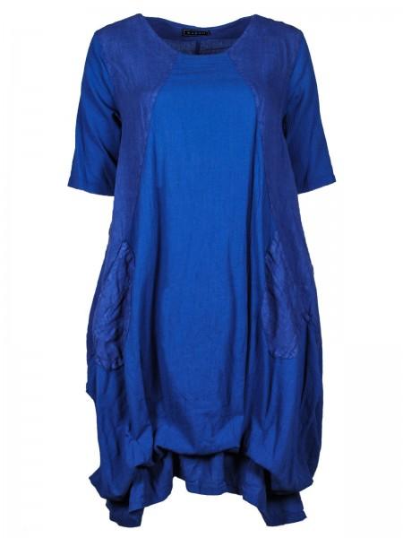 Maxikleid Baumwolle Blau