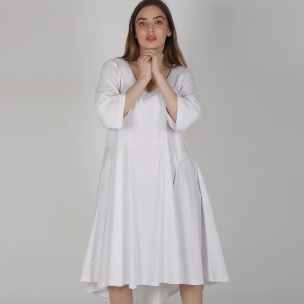 Kleid Bengalin Weiß