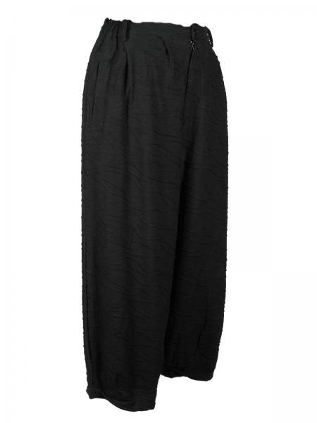 Hose Jersey strukturiert Schwarz