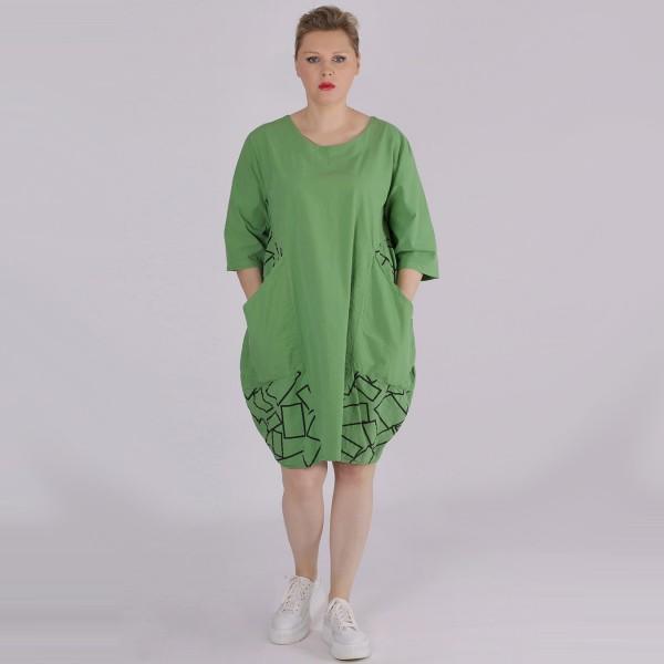Kleid Baumwolle Grün