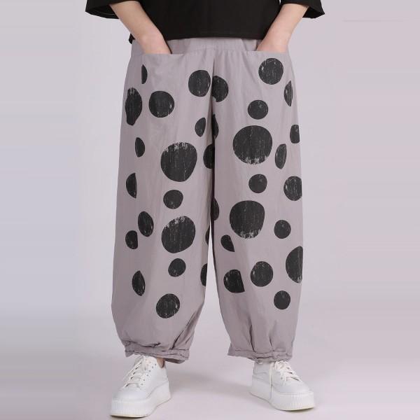 Hose Baumwolle Grau gemustert