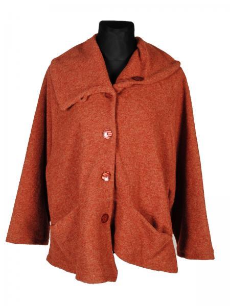 Asymmetrischer mantel aus woll mix