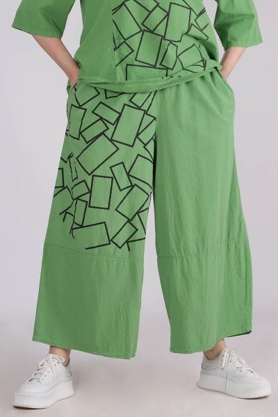 Hose Tulpenform Baumwolle Grün