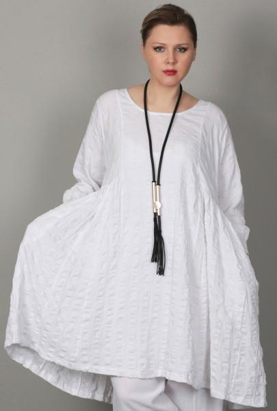 Kleid Waffle Weiß