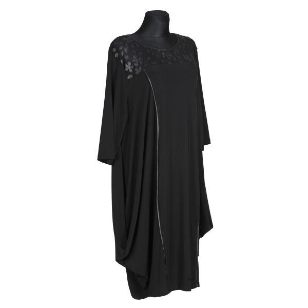 Kleid Schwarz mit Blumen Applikationen