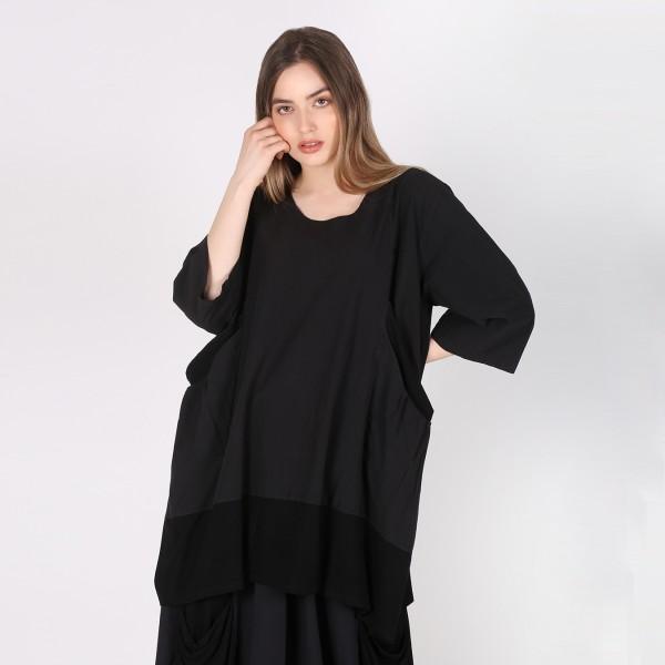 Shirt Baumwolle Jersey Schwarz
