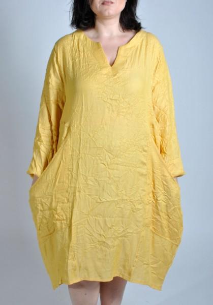 Sommer-Kleid Long-Tunika Gelb
