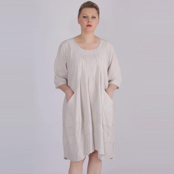 Kleid Baumwolle Jersey Beige