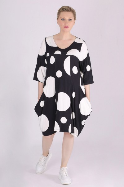Kleid Jersey Allover-Print Kreise