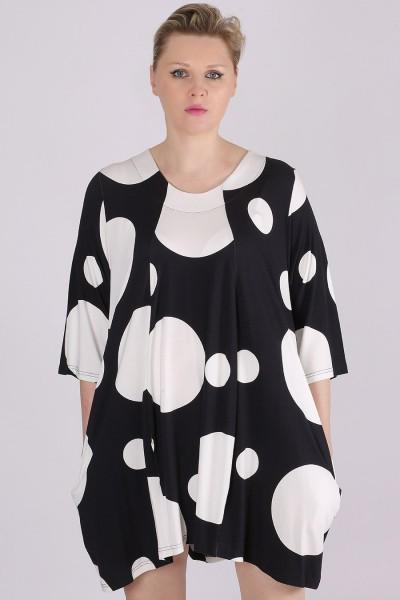 Shirt Jersey Allover-Print Kreise