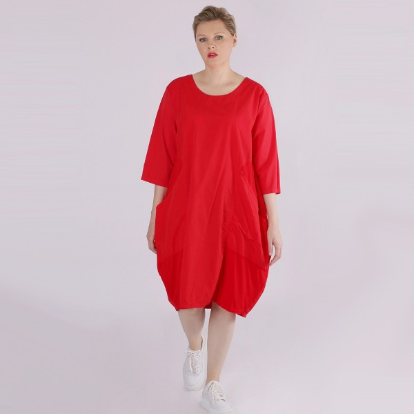 Kleid Baumwolle Jersey Rot