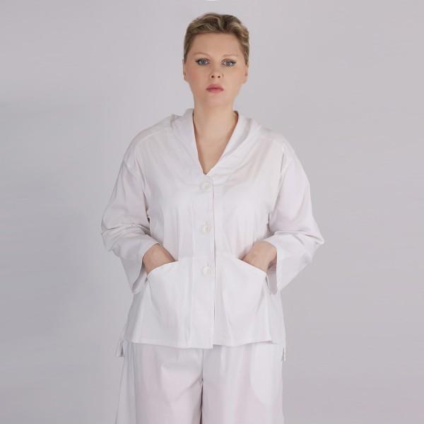 Jacke Bengalin Weiß