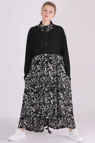 XADOO Kleid in toller A-Linie mit effektvollem Allover Print