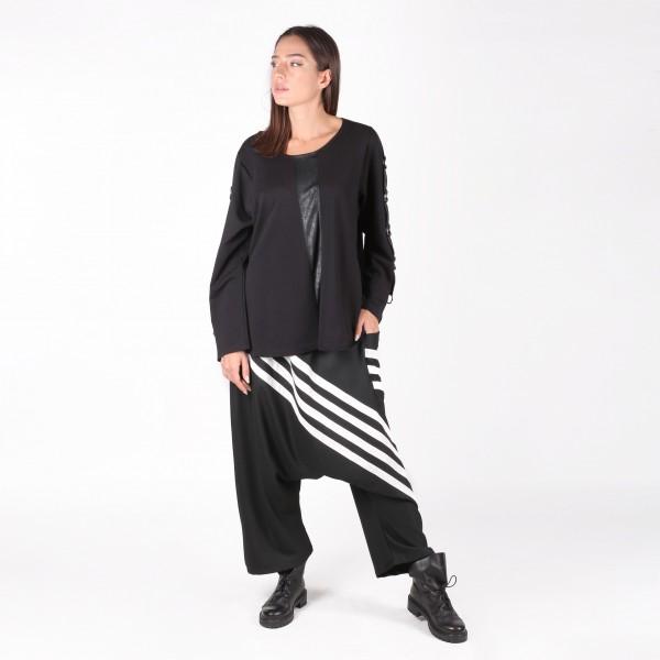 Hose Schwarz / Weiß Streifen