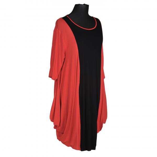 Kleid Jersey Rot/Schwarz