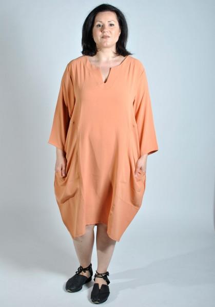Sommer-Kleid Long-Tunika Orange