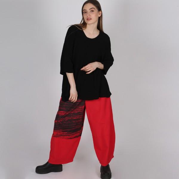 Hose Tulpenform Baumwolle Rot