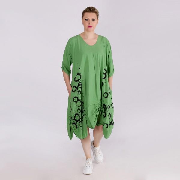 Ballon-Kleid Baumwolle Grün