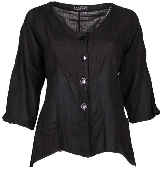 Jacke kurz mit Taschen Baumwolle Schwarz