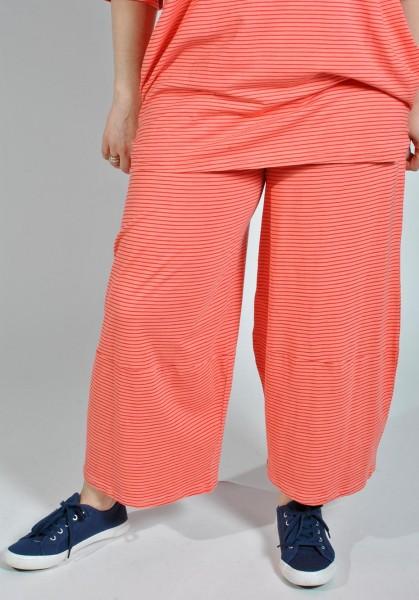 Ballon-Hose Jersey Gestreift Orange