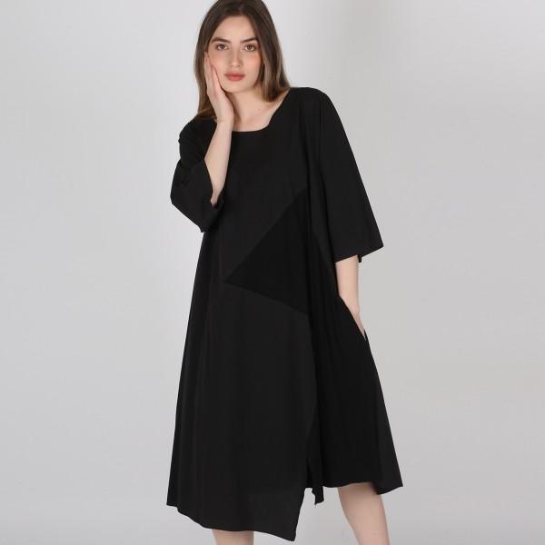 Kleid Baumwolle Jersey Schwarz