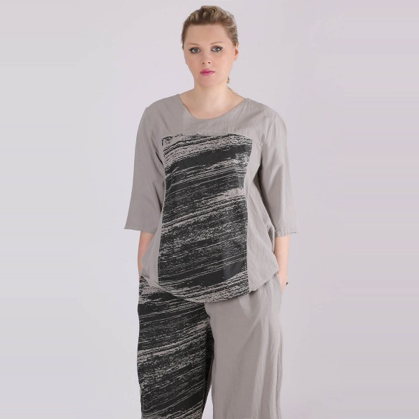 Shirt Baumwolle Grau