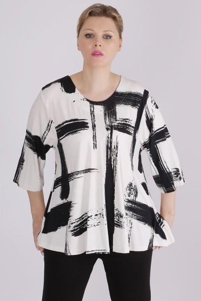 """Jersey Shirt """"Pinselstriche"""" Allover-Print"""