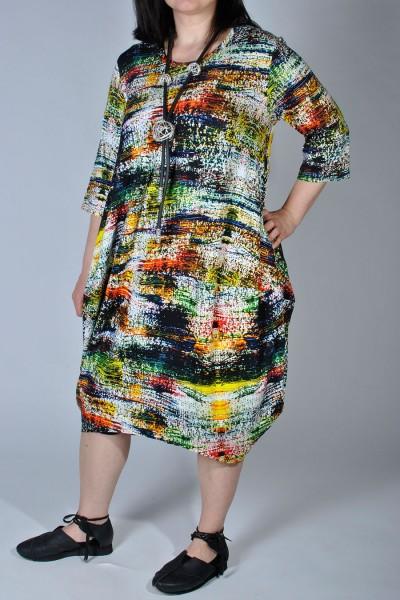 Kleid Jersey Bunt Lagenlook Ballonkleid - OneSize