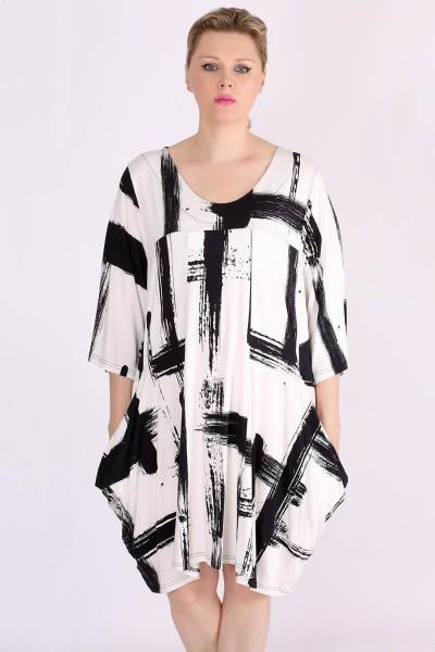 """Kleid Jersey """"Pinselstriche"""" Allover-Print"""