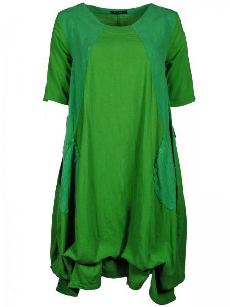 Maxikleid Baumwolle Grün