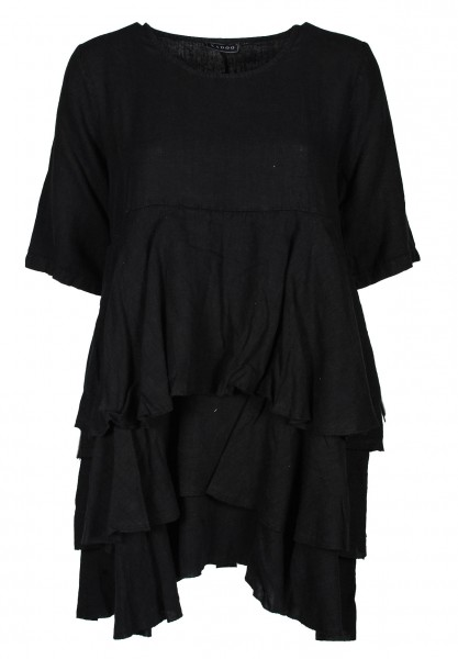 Kleid Dreilagenlook Leinen