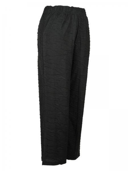 Hose Jersey Schwarz Lang