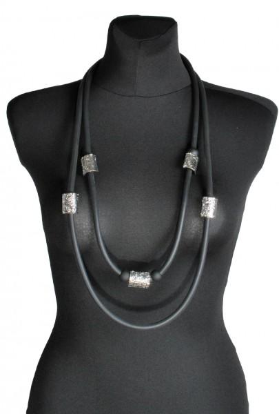 Halskette 12 Kautschuk-Aluminium