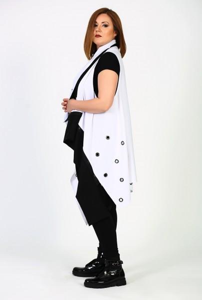 Long-Weste Black & White Design