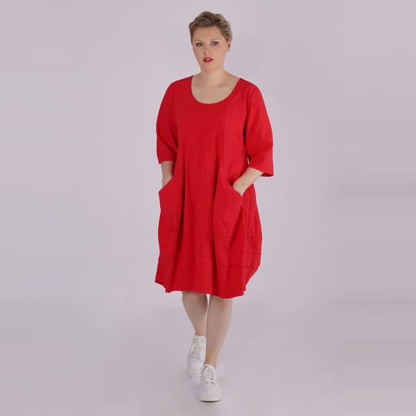 Ballon-Kleid Baumwolle Rot