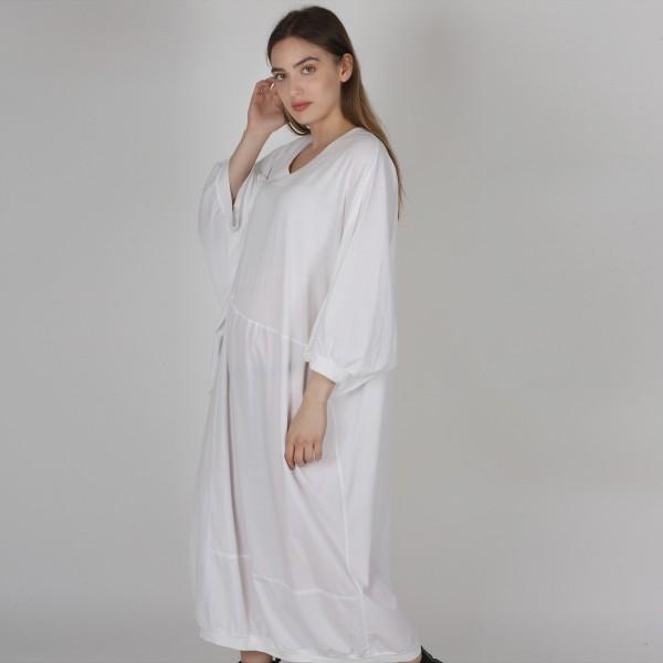 Kleid Baumwolle Jersey Weiß