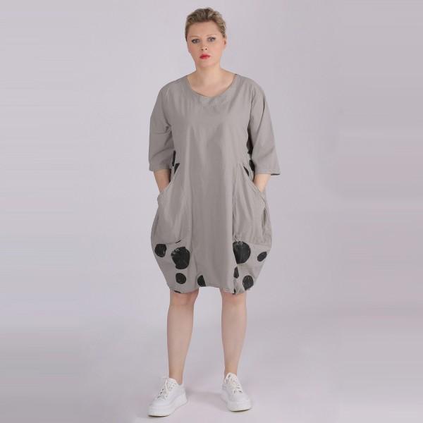 Kleid Baumwolle Grau